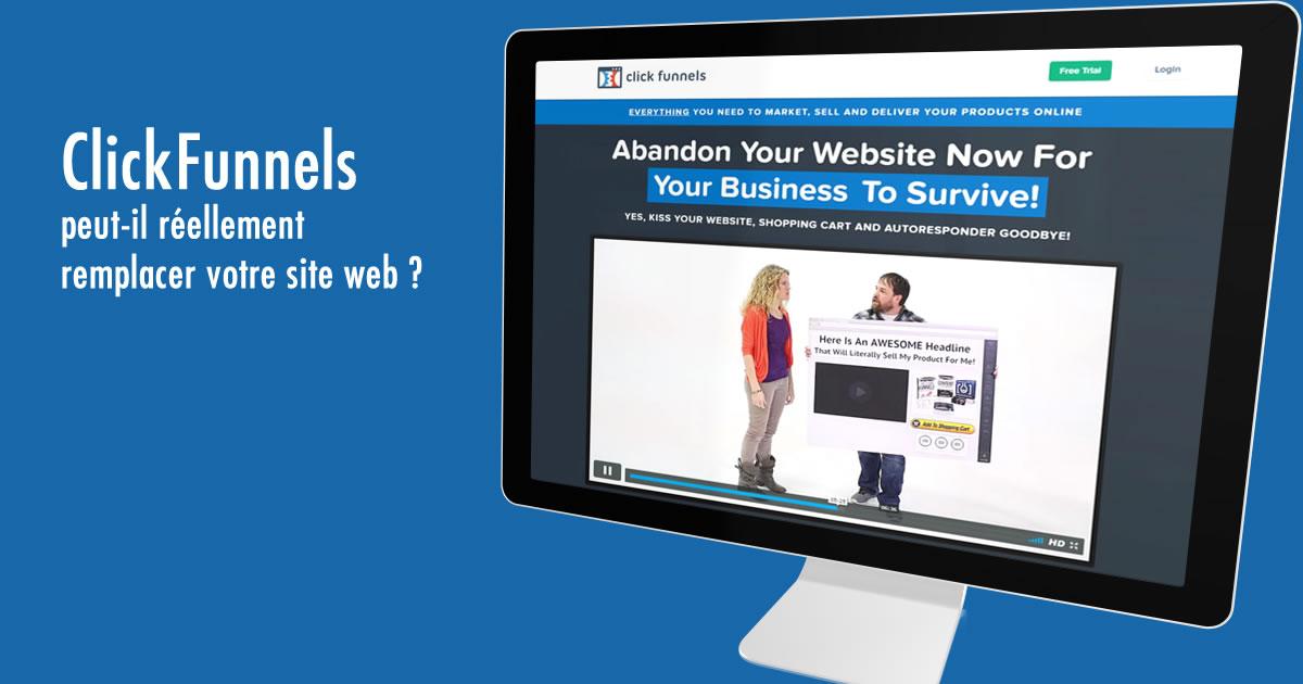ClickFunnels peut-il réellement remplacer votre Site Web ?