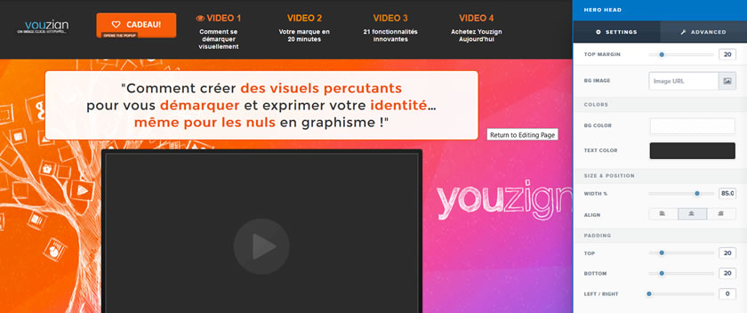 Editeur graphique ClickFunnels