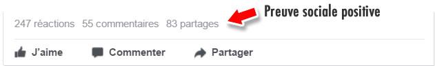 Preuve Sociale Facebook Positive