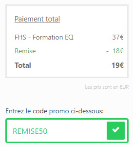 Coupon de réduction sous Thrivecart