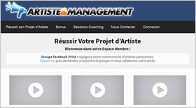 Artiste & Management Formation de Music Business