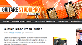 Guitare StudioPro Masterclass Guitare: le Son Pro en Studio
