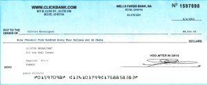 Chèque Clickbank