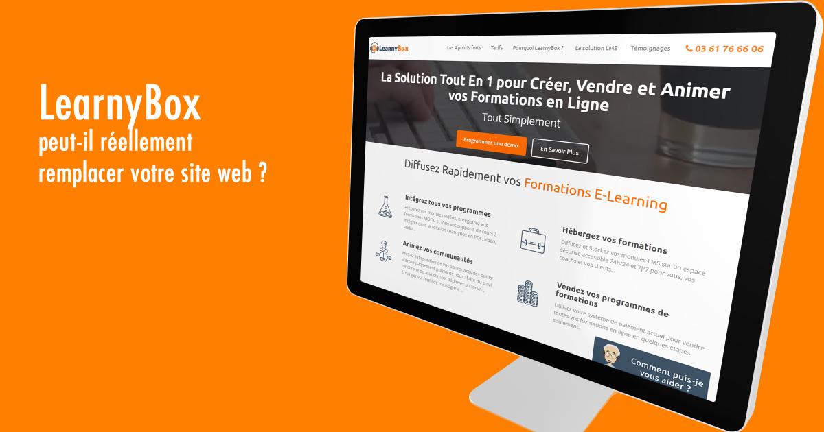 LearnyBox peut-il réellement remplacer votre site web ?