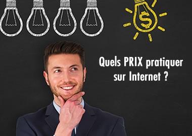 Quels prix pratiquer sur internet?