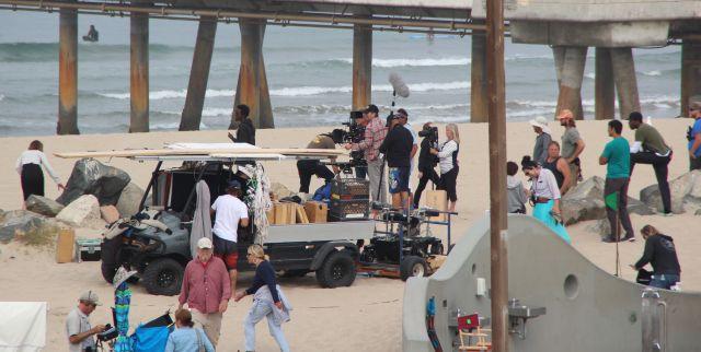 Tournage Film Ride avec Helen Hunt à Venice, Californie